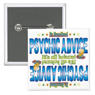 Psychic Advice Dr. B Head 15 Cm Square Badge