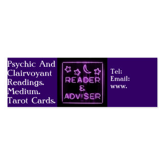 Psychic And Clairvoyant Reader Business Card