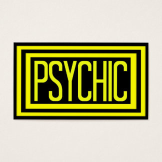 Psychic Black and Yellow Matted Frame Business Card