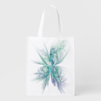 Psychic Energy Fractal Reusable Grocery Bag