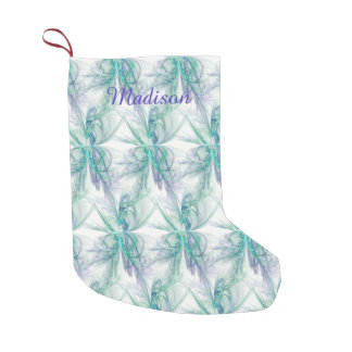Psychic Energy Fractal Small Christmas Stocking