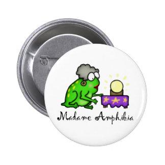 Psychic Frog 6 Cm Round Badge