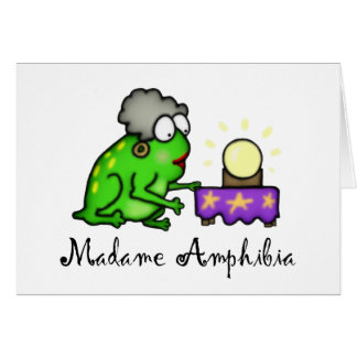 Psychic Frog Greeting Card