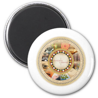 Psychic Library 6 Cm Round Magnet