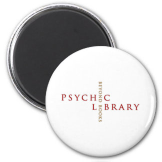 Psychic LIbrary Gifts 6 Cm Round Magnet