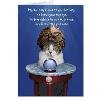 Psychic Mikie Funny Birthday Greeting Card