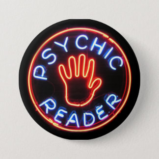 Psychic Reader Neon Sign 7.5 Cm Round Badge