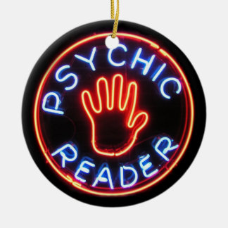 Psychic Reader Neon Sign Christmas Ornament