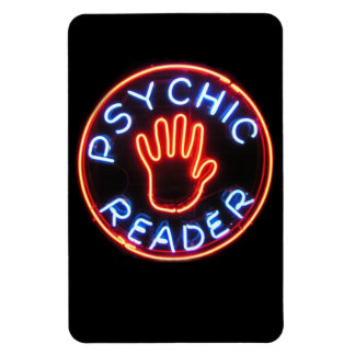 Psychic Reader Neon Sign Rectangle Magnet