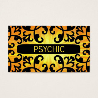 Psychic Sunshine Damask Business Card