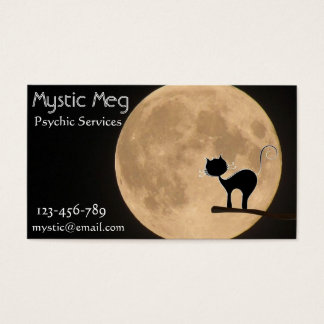 Psychic, tarot, fortune teller new age services business card