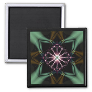 psychic undergrowth square magnet