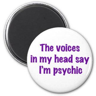 Psychic Voices 6 Cm Round Magnet