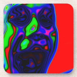 Psycho Active Face Design Coasters