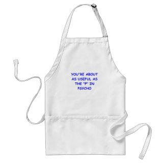 psycho adult apron