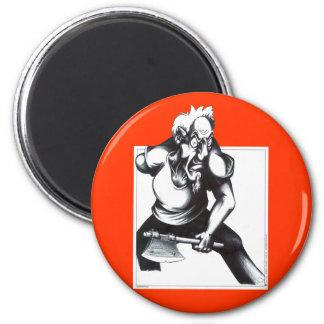 Psycho Axeman 6 Cm Round Magnet