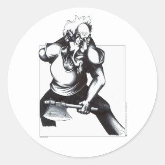 Psycho Axeman Round Sticker