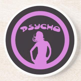 Psycho Babe Drink Coaster