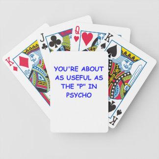 psycho bicycle card decks