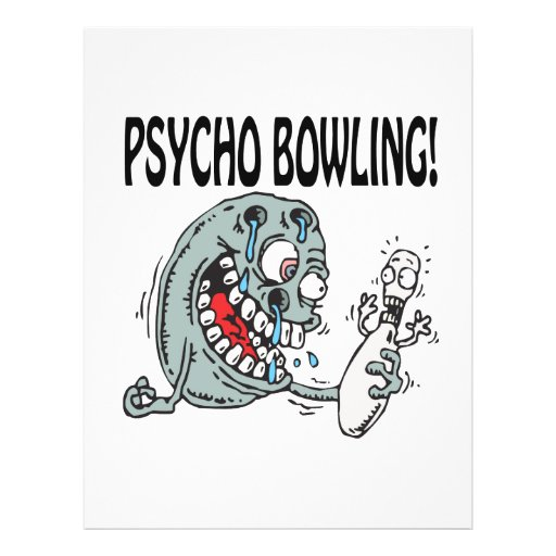 Psycho Bowling Personalized Flyer