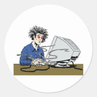 Psycho Clicker Round Sticker