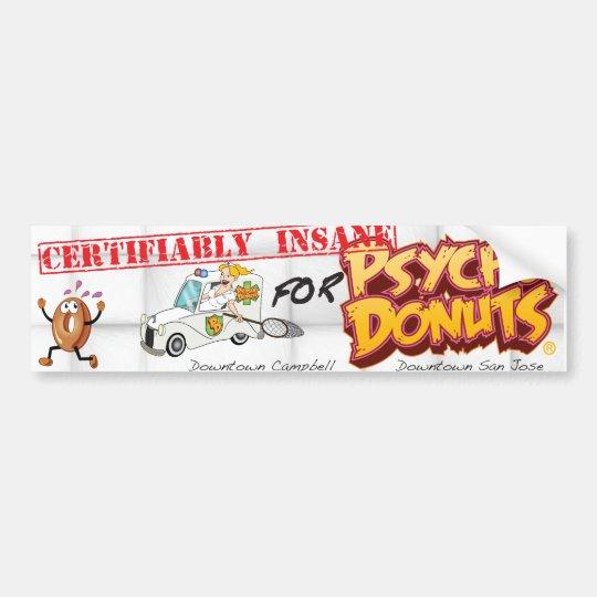 Psycho Doughnuts Bumper Sticker