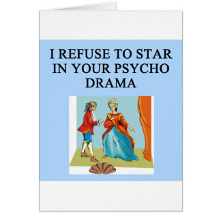 psycho drama queen greeting card