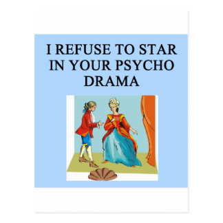 psycho drama queen postcard