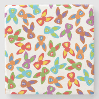 Psycho Easter Pattern colorful Stone Coaster
