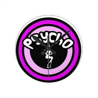 Psycho Lady Round Wallclock
