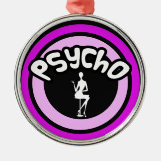 Psycho Lady Silver-Colored Round Decoration