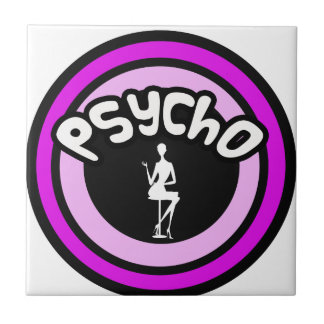 Psycho Lady Small Square Tile