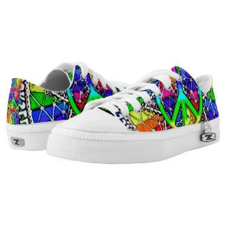 Psycho Peace Mandala Custom Zipz Low Top Kickers Printed Shoes