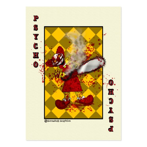 Psycho Playing Card Pack Of Chubby Business Cards
