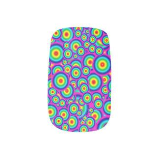 Psycho Psychedelic Nails Minx Nail Art