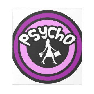Psycho Shopper Note Pad