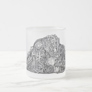 Psycho Warrior Frosted Glass Coffee Mug