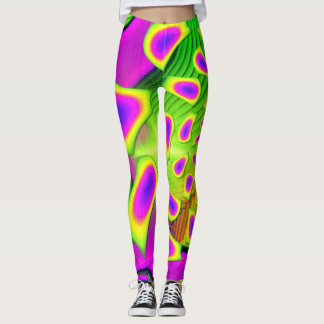 PsychoBerries 3d Glass Fractal Leggings
