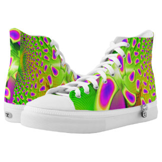 PsychoBerries 3d Glass Fractal Printed Shoes