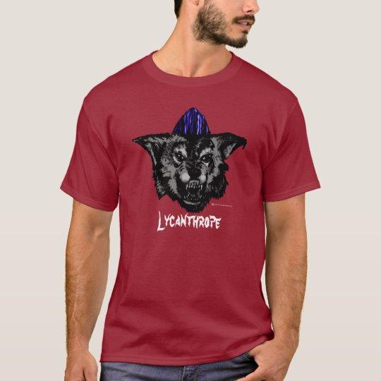 Psychobilly Werewolf on colour shirt