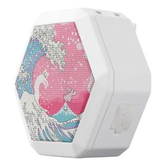 Psychodelic Bubblegum Kunagawa White Bluetooth Speaker