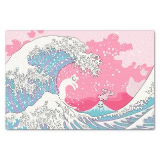 Psychodelic Bubblegum Pink Kunagawa Wave Tissue Paper