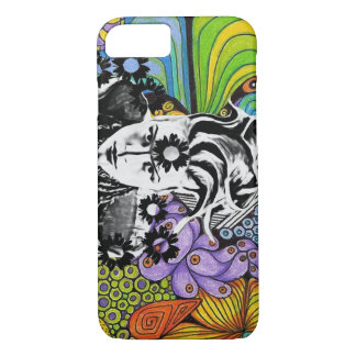 Psychodelic pop woman Cellphone case