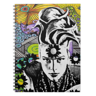 Psychodelic pop woman Notebook