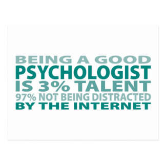 Psychologist 3% Talent Postcard