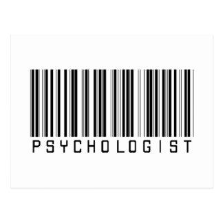 Psychologist Bar Code Postcard