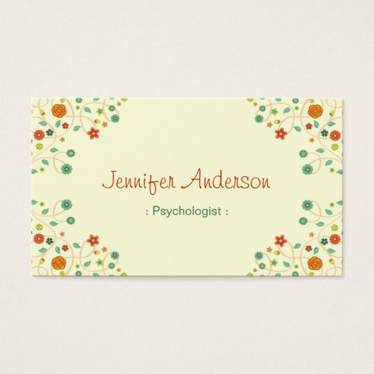 Psychologist - Chic Nature Stylish Business Card