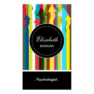Psychologist- Colorful Stripes Pattern Pack Of Standard Business Cards
