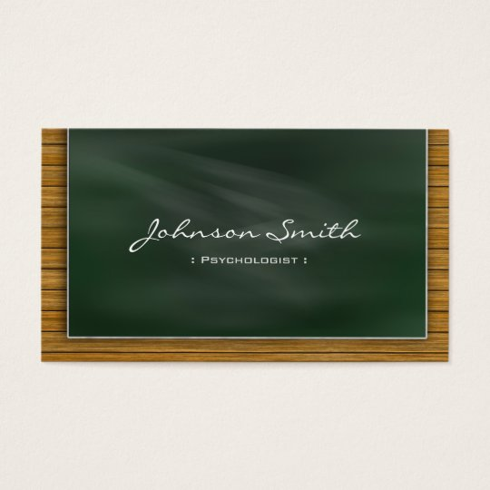 Psychologist - Cool Chalkboard Business Card