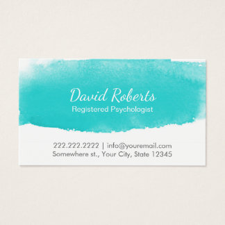 Psychologist Counselor Watercolor Appointment Business Card
